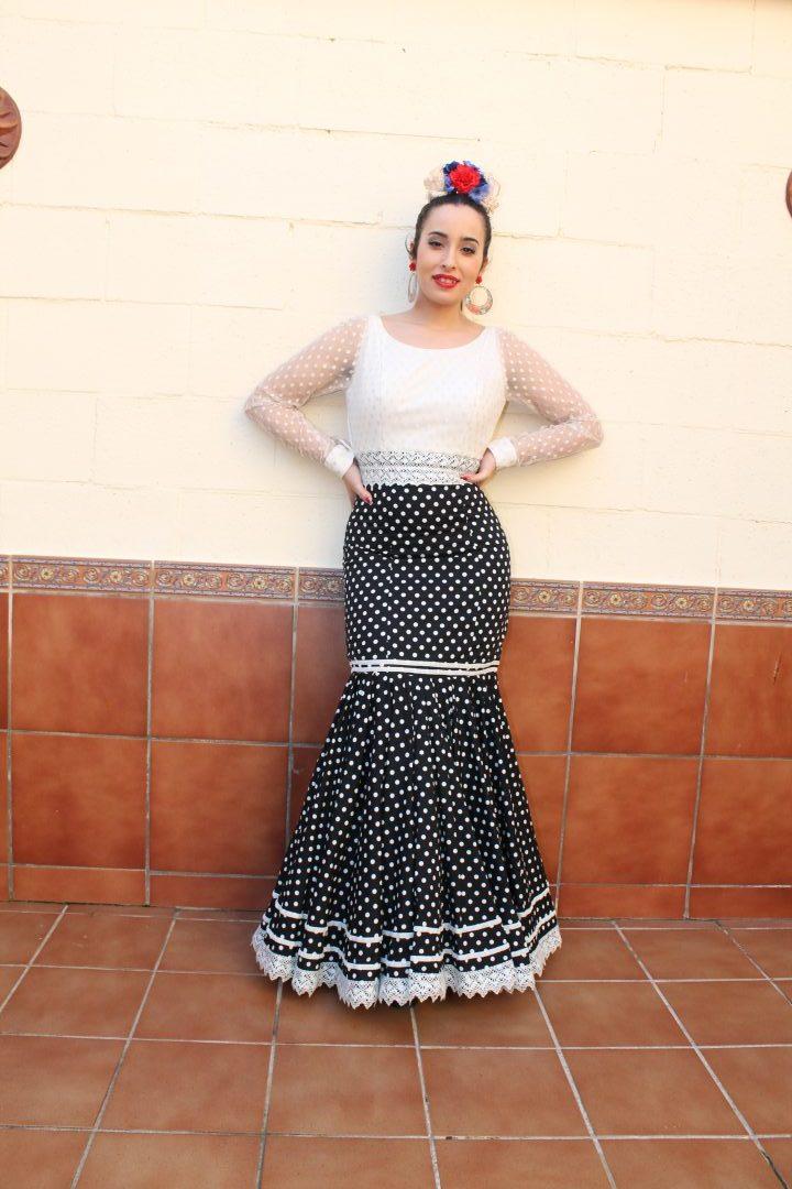 Traje de fiesta flamenca Quema. Diseño de Rocío Lama